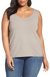 Nic Zoe Plus Size Women's 'Modern Perfect' Knit Tank Mushroom