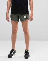 Good For Nothing Retro Shorts With Logo Taping Green