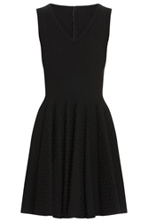 Azzedine Alaia Raised Dot Dress Black