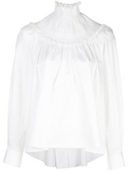 Adam By Adam Lippes Smocked Neck Blouse 60