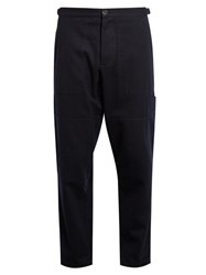 Oliver Spencer Judo Cotton And Wool Blend Trousers Navy