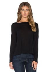 Lanston Cross Back Crop Top Black