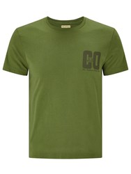 John Lewis And Co. Graphic Trial T Shirt Khaki