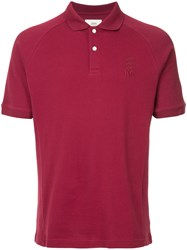 Kent And Curwen Logo Embroidered Polo Shirt Pink And Purple
