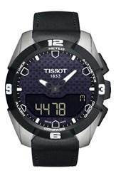 Tissot Men's T Touch Expert Solar Multifunction Smartwatch 45Mm Black Silver