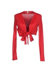 1 One Wrap Cardigans Red