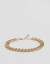 Asos Midweight Chain Bracelet In Gold