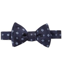 Brooks Brothers Men's Medallion Print To Tie Bow Tie Navy