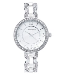 Charter Club Women's Silver Tone Crystal Bracelet Watch 33Mm 17190 Only At Macy's
