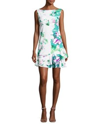 La Petite Robe Di Chiara Boni Martje Sleeveless Floral Flounce Cocktail Dress Reflections Reflections Print