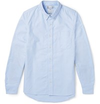 Visvim Albacore Elbow Patch Cotton Oxford Shirt Blue