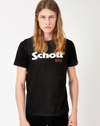 Schott Logo T Shirt Black