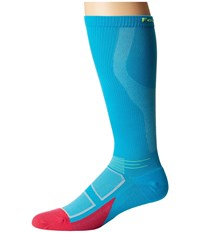 Feetures Elite Light Cushion Knee High Compression Hawaiian Blue Reflector Knee High Socks Shoes