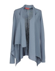 Manila Grace Denim Knitwear Cardigans Women Sky Blue