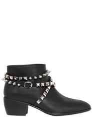 Giuseppe Zanotti Studded Wrap Belt Leather Ankle Boots