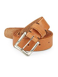 Will Leather Goods Skinny Skiver Leather Belt Tan