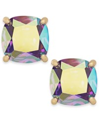 Kate Spade New York Gold Tone Iridescent Crystal Stud Earrings Purpleab