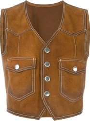 Dsquared2 Western Waistcoat Brown