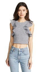 C Meo Collective Best Love Top Black Check