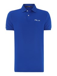 Rlx Ralph Lauren Performance Solid Polo Blue
