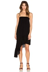 Indah Sierra Asymmetrical Sundress Black