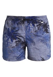 Hom Costa Rica Swimming Shorts Navy Mottled Blue