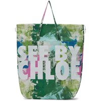 See By Chloe Multicolor Logo Paint Tote