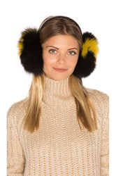 Eugenia Kim Janine Artic Fox Fur Ear Muff Black