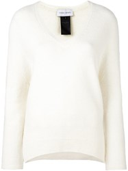 Christian Wijnants V Neck Jumper White