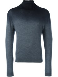 Emporio Armani Tonal Turtleneck Jumper Grey