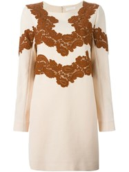 Chloe Chloe Lace Detail Dress Pink And Purple