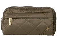 Le Sport Sac City Central Cosmetic Metallic Bronze Quilted Cosmetic Case Olive