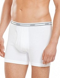 Jockey 4 Pack Stay New Low Rise Knit Boxer Briefs White