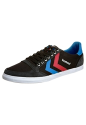 Hummel Slimmer Stadil Low Trainers Jet Black Brilliant Blue Ribbon Red