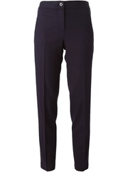 Tory Burch Cropped Tailored Trousers Blue