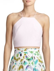 Milly Audrey Halter Cropped Top Blush