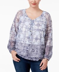 Inc International Concepts Plus Size Lace Up Peasant Top Only At Macy's Petite Four