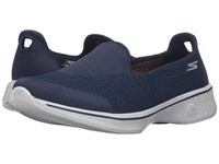 Skechers Go Walk 4 Pursuit Navy Gray Women's Slip On Shoes Blue