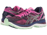 Asics Gel Nimbus 19 Indigo Blue Paradise Green Pink Glow Women's Running Shoes