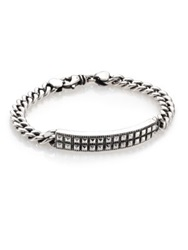 King Baby Studio Sterling Silver Pyramid Stud Id Chain Bracelet