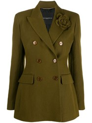 Ermanno Scervino Double Breasted Pin Detail Blazer Green