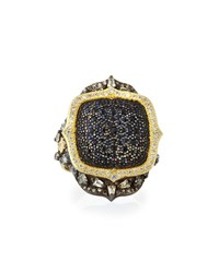 Armenta Old World Black Sapphire Pointed Cushion Ring