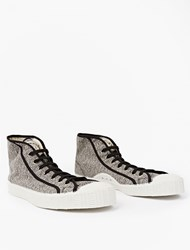 Spalwart Black And White Canvas Special Mid Sneakers
