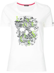 Loveless Floral Skull T Shirt Women Cotton 36 White
