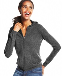 Charter Club Cashmere Hoodie Heather Charcoal