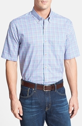 Cutter And Buck 'Manchester' Classic Fit Short Sleeve Sport Shirt Multi Blue