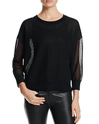 Finity Sheer Slouchy Sweater Black