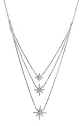 Women's Bony Levy 'Ella' Diamond Multilayer Star Pendant Necklace White Gold Nordstrom Exclusive