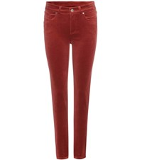 Loro Piana Mathias Velvet Trousers Red