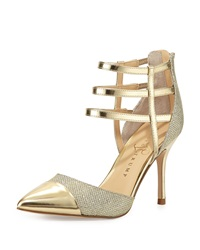 Ivanka Trump Dream Metallic Cap Toe Pump Gold Silver